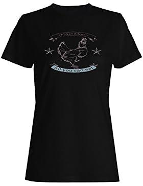 Cocina De Pollo Sabrosa Comida camiseta de las mujeres m778f