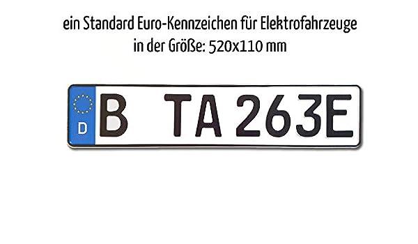 TA TradeArea 1 Kfz Euro-Kennzeichen in der Standard-Gr/ö/ße 520x110 mm f/ür Elektrofahrzeuge