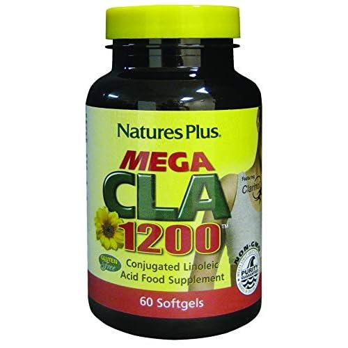 41K1ToN4%2BOL. SS500  - NaturesPlus Mega CLA - 1200 mg Conjugated Linoleic Acid, 60 Softgels - Gluten Free - 60 Servings
