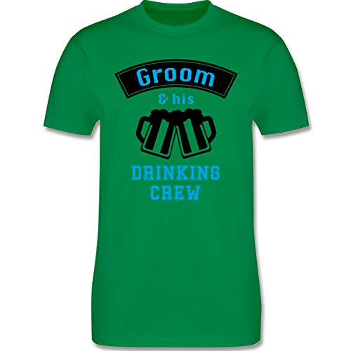 JGA Junggesellenabschied - Groom and his drinking crew - Herren Premium T-Shirt Grün