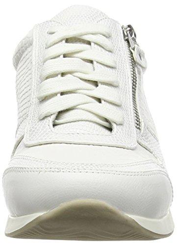 La Strada White Snake Leather Look Sneaker Damen Sneakers Weiß (1504 - snake white)