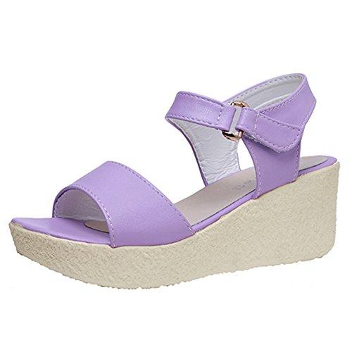 Ms summer coins plate-forme de peep-toe sandales/Etudiants de sandale plate-forme sucré A