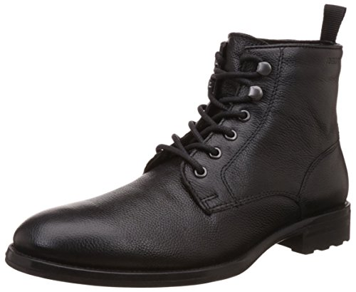 Red Tape Men's Black Leather Boots - 10 UK/India (44...