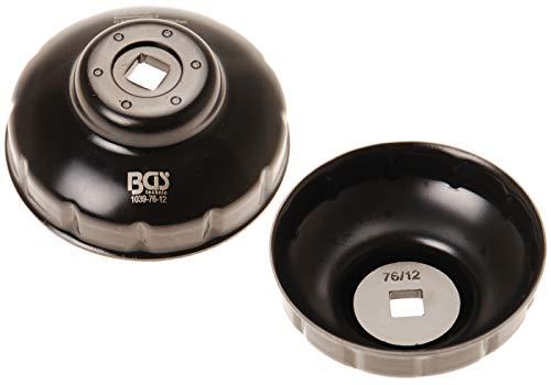 Bgs 1039-76-12 - Tappo filtro olio, il 76 mm x 12 kant