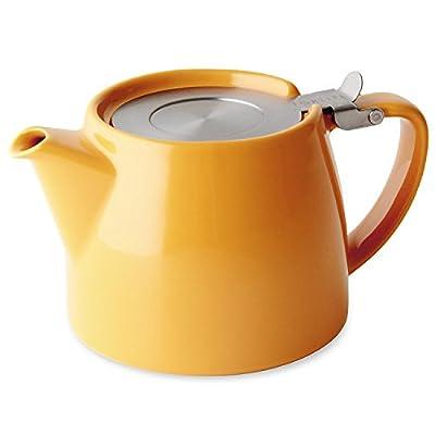 Théière Forlife Stump avec infuseur 532,3ml (mandarin) avec un échantillon de thé en vrac Mystic Brew.