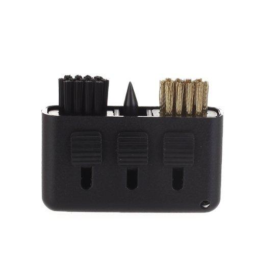 3-in-1 Golf Pinsel Groove Reiniger Tasche Größe Kunststoff Club Kit Werkzeug schwarz