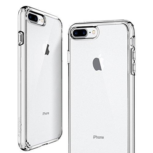 iPhone 8 PLUS / 7 PLUS Hülle, Spigen® [Ultra Hybrid 2] iPhone 8 PLUS Hülle, Luftpolster Technologie [Crystal Clear] Zweite Generation des Ultra Hybrid für iPhone 8 PLUS und verstärkter Kamera- und But UH2 Crystal Clear