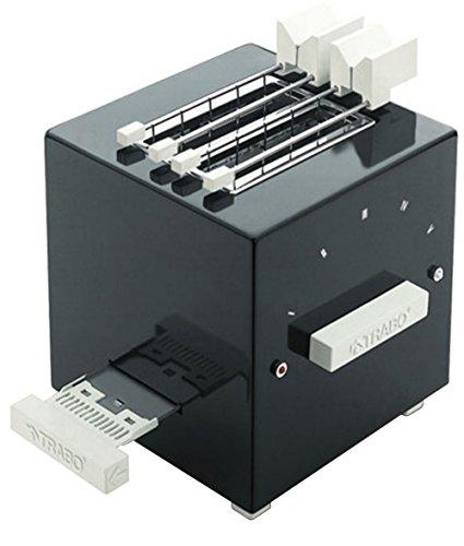 """Trabo Design-Toaster """" Block"""" von Piero Russi, ABS, Schwarz, 24,5cm x 22,5cm x 28cm"""