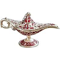 Lámpara de Aladdin tallada retro con estatua decorativa, colección de arte ...