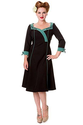 Banned robe robe style fLOWER 5023 Noir - Noir
