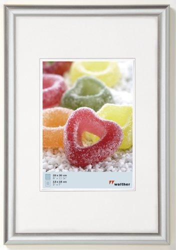 Produktbild walther design KP070S Trendstyle Kunststoffrahmen, 50x70 cm, silber