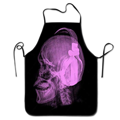 ality Apron dj skull skeleton headphones music design dj skull skeleton headphones music design can be Chef Kitchen Aprons 20.4 * 28.3 inch ()
