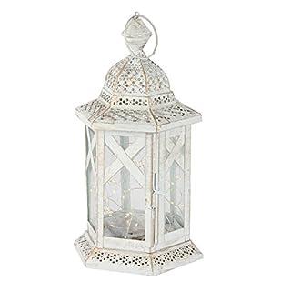 albena shop 74-100 Mudi oriental lantern moroccan lamp metal/glass (S with LED light chain)