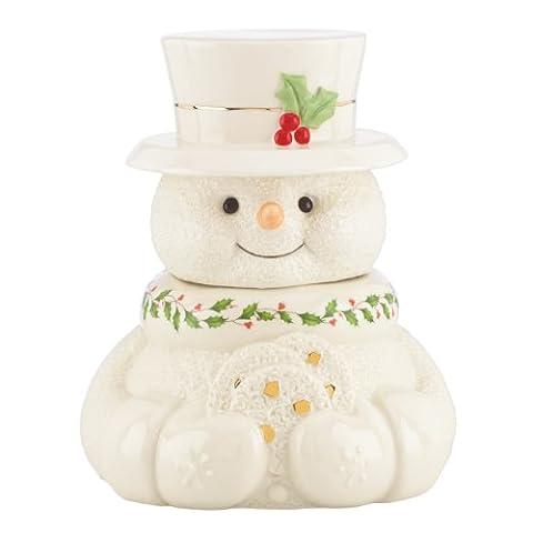 Lenox Happy Holly Days Snowman Cookie Jar