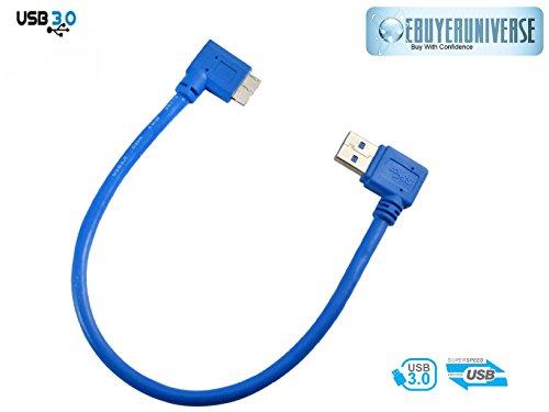 30cm 90Grad Rechts Winkel USB 3.0A Stecker auf Micro-B-Links Stecker 10Pin Kabel