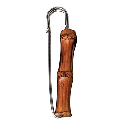 Generic Donna Uomo Bambù Retrò Spille di Sicurezza Spilla Pin Costume Accessori