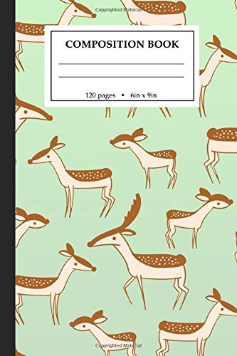 Green Deer (Composition Book: Cute Deer Green College Ruled Composition Notebook with 120 6x9 pages)