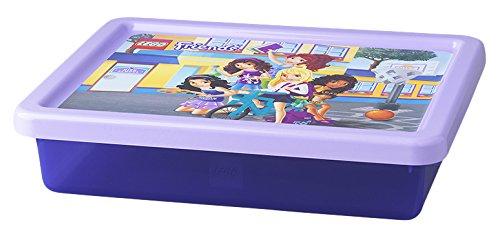 LEGO Friends Aufbewahrungsbox, klein, 6 l, stapelbar, durchsichtig lila