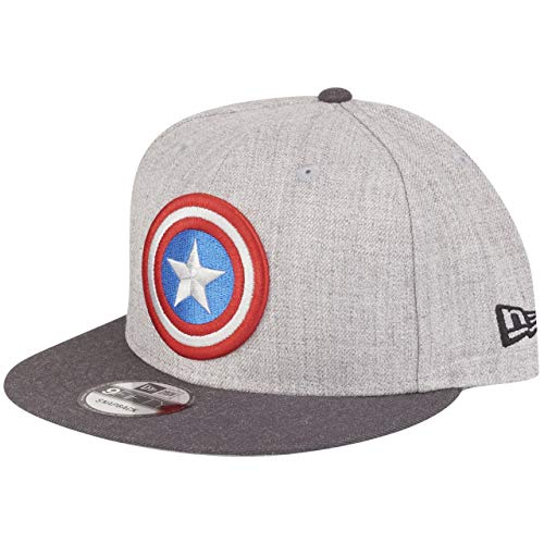 New Era Captain America 9fifty Snapback Cap Comic Graphite Heather Graphite - One-Size (Hat America Captain)