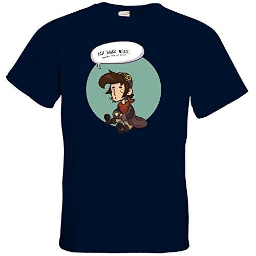 getshirts - Daedalic Official Merchandise - T-Shirt - Deponia Doomsday - Rufus wars nicht Navy