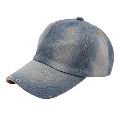 Blank Denim-denim (Amlaiworld Mode Herren Damen Jean Sport Hut lässige Denim Baseball Cap Sonnenhut (A))