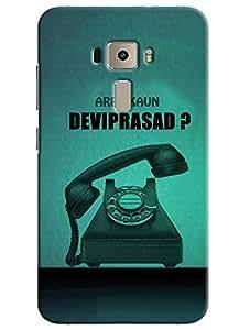 Omnam Arre Kaun Deviprasad With Telephone Designer Back Cover Case for Asus Zenfone 3 ZE552KL