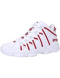ALIKEEY Los Hombres De Baloncesto Zapatos Antideslizante Transpirable Zapatos Agradables Zapatos De Malla Resistente Seguridad O Ligero Colour Informal Capas Vela BritáNico