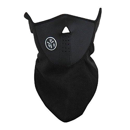 Máscara protección respiratoria a prueba de viento frío revestimiento en felpa y neopreno para la motocicleta moto mws1052/NEG (negro)