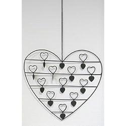 """Wanddeko """"Herz-Clips"""" für Fotos und Geldscheine - Allrounder für die Hochzeit"""