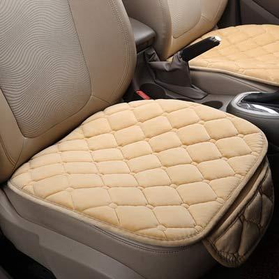 Daxey - 1 PC Warm-Auto-Sitzabdeckungs-Kissen-Universal-Short Plüsch SAMT vorne Auto Stuhl Pad Vehicular Auto Accessorie Winter-Sitzschutz [Beige] - Therapeutische Pad