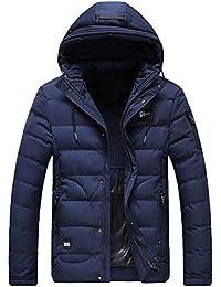 ITISME Herren Pullover Herren Winter Warme Kapuzenjacke Dicker, Fester Fleece-Mantel mit Reißverschluss Baumwolle gefütterte Jacke