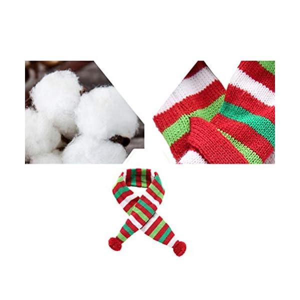 POPETPOP Elegante Bufanda para Mascotas, Bufanda de Navidad Ajustable para Perrito, Baberos Accesorios para Perros y… 3