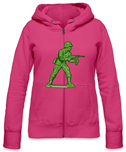 Toy Soldier Womens Zipper Hoodie Small (Small Soldiers Dvd)