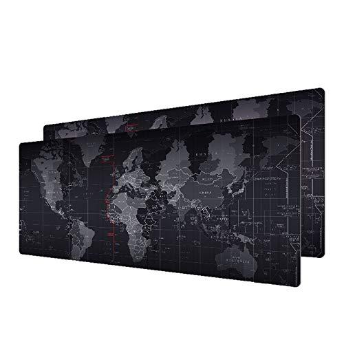Gaming Mouse Pad Anti-Rutsch-Karte der Alten Welt Mousepad mit Verriegelungsrand Große Mauspad Praktischer Schreibtisch Ruhelagefläche 70 x 30 cm