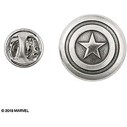 Royal Selangor-Peltre de recogida de acabado a mano Marvel Capitán América Pin De Solapa
