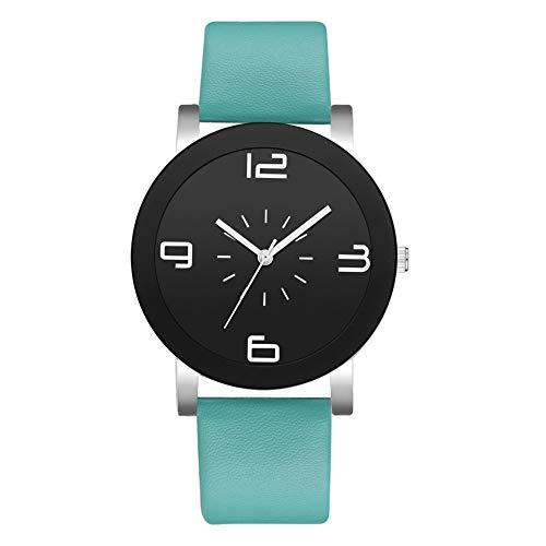 Damen Armbanduhr TWISFER Analog Quarz Edelstahl Uhren mit Leder Armband und Schwarz/Weißes Zifferblatt für Frauen Mode Einfache Casual Armbanduhr