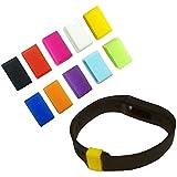 Xgeek Elementos de sujeción de silicona Clips Cierres para pequeños y grandes Tamaño Fitbit Flex Muñequera paquete de 10