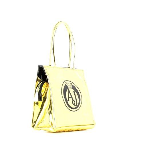 ARMANI JEANS donna borsa shopping 922162 6A735 00961 ORO/NERO ORO-NERO