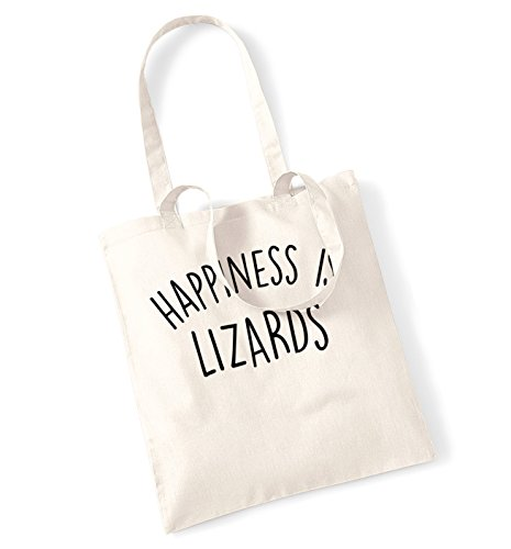 Happiness is lizards tote bag (Lizard Tanks)