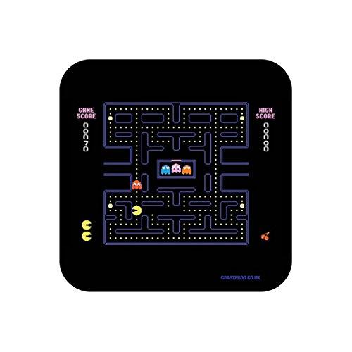 """""""80er-Jahre Pac-Man-Screenshot""""-Getränke-Untersetzer–witziges Retro-Gaming-Motiv"""