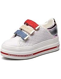 Zapatos Ocasionales de Las Mujeres Zapatos Deportivos Plataforma Zapatos con Velcro para Mujer Zapatillas Planas…
