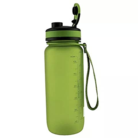 Ezyoutdoor Water Bottle BPA-Free Made for Running Gym Yoga Outdoors and Camping Bivouac Travel Backpacking Hunting Household Fast Water Flow Flip Top Opens With Click Durable Reusable green
