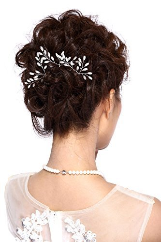 Hailie Bridal HailieStudio Handmade Women's Wedding Bridal Rice Pearl Hair Pins