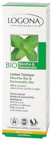 Logona - 1001tonmen - Soin du Visage - Lotion Tonique Menthe Bio / Hamamélis Bio - 125 ml