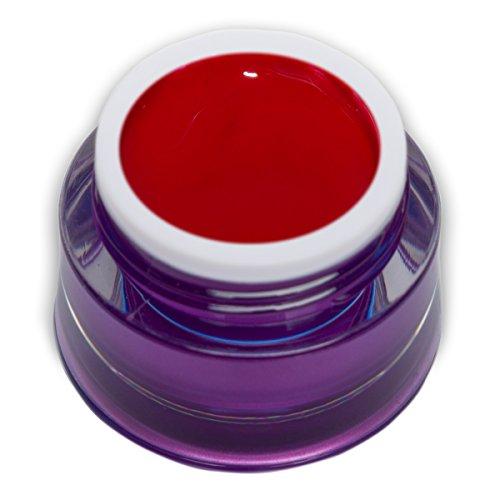 RM Beautynails, gel colorato, 5 ml, gel colorato di qualità, colore rosso acceso