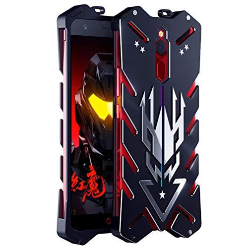 BINGRAN ZTE Nubia Red Magic Hülle, [Vulcan Series] [Hohle Design] Luftfahrt Aluminium Metall Robuste Armor Metal Case Hart Robuste Starke Schutzhülle für ZTE Nubia Red Magic 6.0