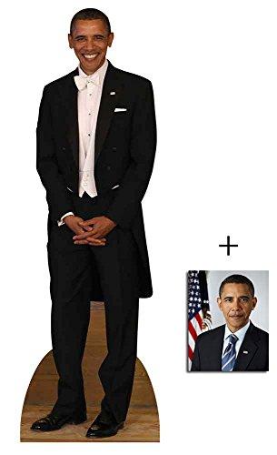 President Barack Obama Tuxedo Lebensgrosse Pappaufsteller mit 25cm x 20cm foto (Freund Tuxedo)
