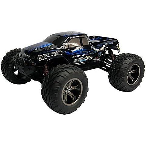 iisport Monstertruck (Escala 1:12) Vehículo por Control Remoto Truggy, Resistente al Agua Montado 2.4GHz Digital Velocidad Máxima 45 km/h Conjunto RTR Azul