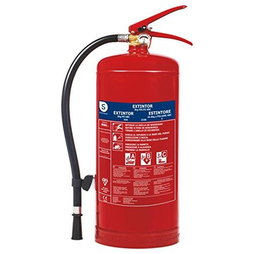 Smartwares fex-15162 estintore con polvere, tipo di fuoco abc supporto bb6 incluso, rosso