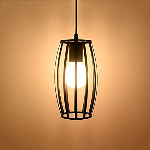 Modern Simple Chandelier E27 Iron Art Lampshade Creative Personality Restaurant Bar Aisle Industrial Light American Retro Single Headlights 110-240 Volts AC Voltage Diameter 5.51 Inches